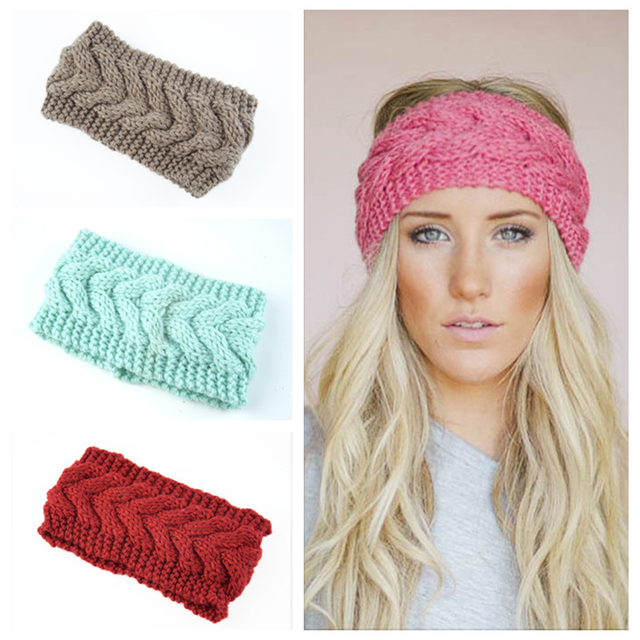 c5e439a8c11 Knitted Twist Warm Hat Ear Warmer Headwrap HairBand Winter Hats for Women  Fashion Ladies Beanie Hair