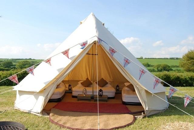 Diameter 5M Outdoor Leasure C&ing Canvas Bell Tent Sibley Tent Luxury Safari Tent Gl&ing Tent with & Diameter 5M Outdoor Leasure Camping Canvas Bell Tent Sibley Tent ...