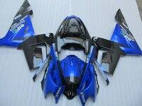 Настроить мотоцикл комплект обтекателей для Kawasaki ZX10R 2004 2005 Ninja ZX 10R 04 05 цвет синий, черный; Большие размеры 34–43 ABS обтекатели комплект YV12