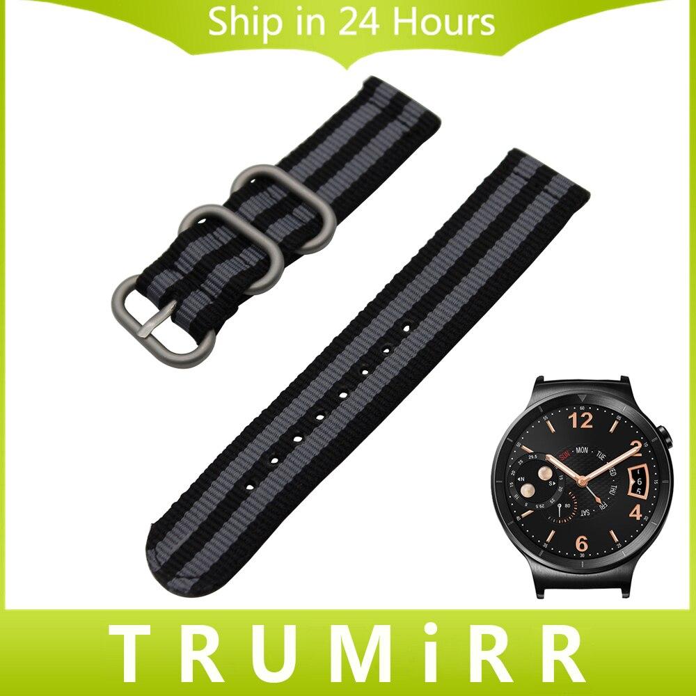 18mm Nylon Watchband for Huawei Watch Asus ZenWatch 2 Women's WI502Q Zulu Band Fabic Strap Wrist Belt Bracelet Black Blue Brown asus zenwatch 2 wi501q smartwatch
