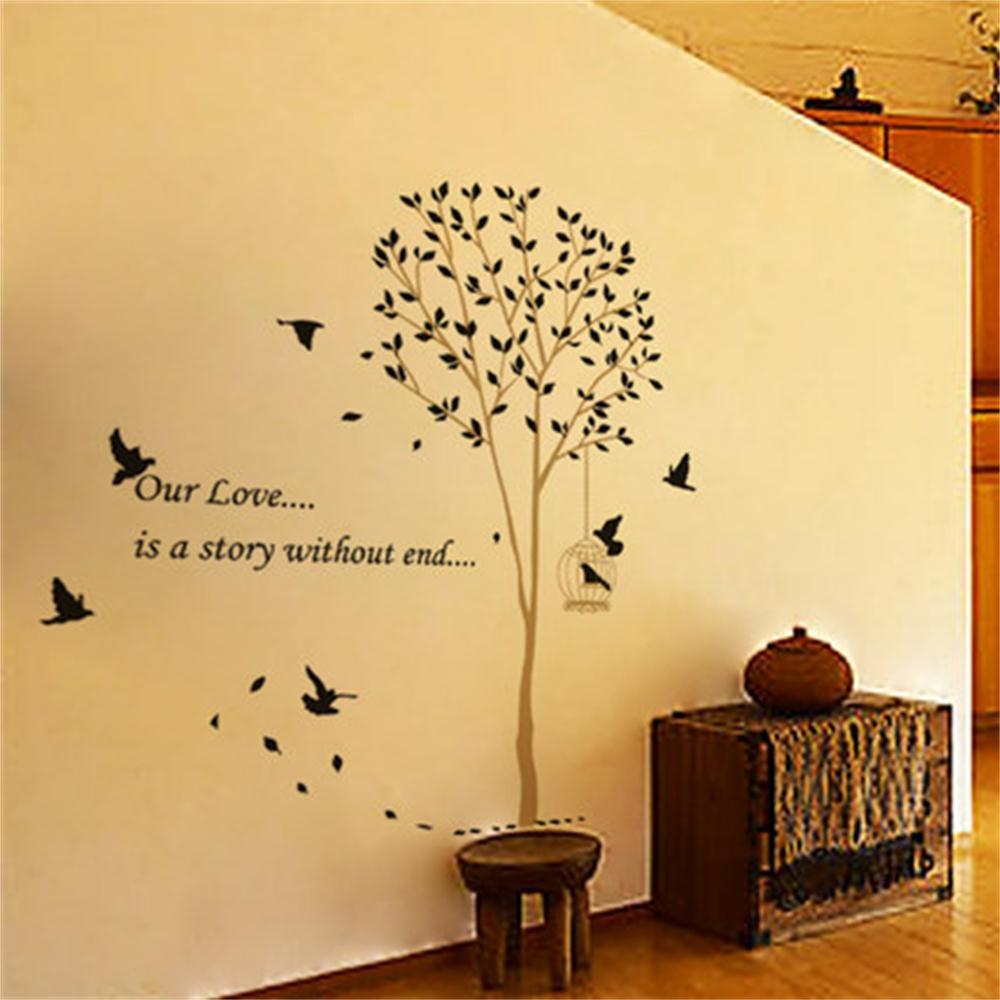 Wall Sticker Home Decor Art Removable Mural Decal Vinyl Tree birds ...