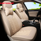 CARTAILOR Car Seat Cover For Jeep Renegade 2016 PU Leather &Ice Silk Seat Covers Car Accessories Set Black Cover Seats Protector