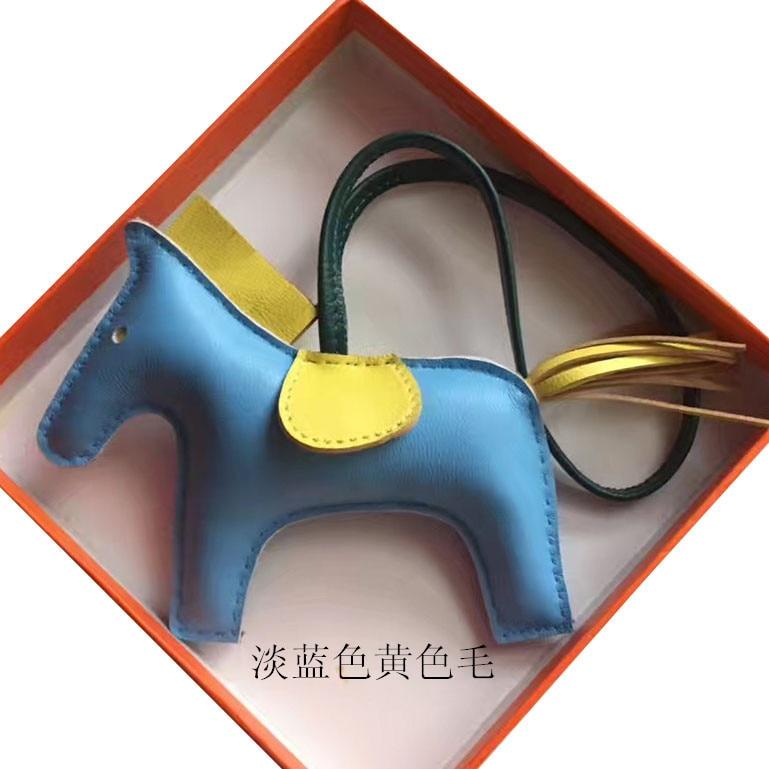 Multicolor Key Holder Lovely Horse Shape Bag Hang Car Pendant Sheepskin Tassel Charms Ornament Women Men