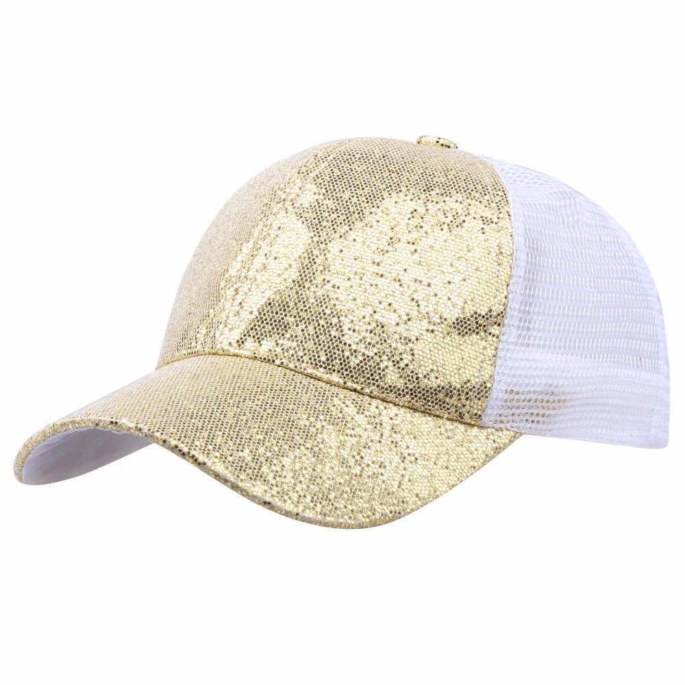 19a5dc86478 ... SAGACE 2019 Ponytail Baseball Cap Women Messy Bun Snapback Summer Mesh  Hats Casual Sport Sequin Caps ...
