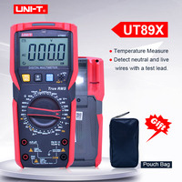 Digital multimeter UNIT UT89X;AC DC Volt Ampere ohm meter;Capacitance Resistance Frequency Temperature tester;NCV/Live wire test