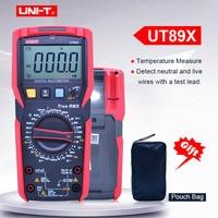 Digital multimeter UNIT UT89X;AC DC Volt Ampere ohm meter;Capacitance Resistance Frequency Temperature tester;NCV/Live wire test