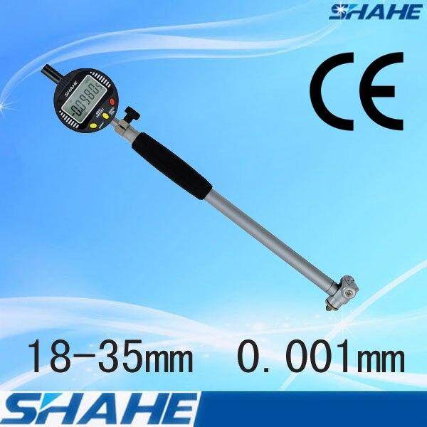 SHAHE 18 35 mm 0 001 mm Digital Bore Gauge dial indicator gauge