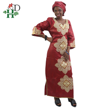 H&D african women clothing 2019 fashion plus size africa style traditional bazin riche robe outfit dress new designer 5XL 6XL