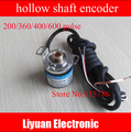 Semi-hollow shaft incremental rotary encoder/eje hueco 200/360/400/600 del generador de pulsos