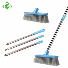 GUANYAO Floor Scourer Cleaning  Brushes with Long Steel Handle Plastic Hard bristles Strong decontamination Easy to brush