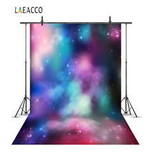 hot deal buy laeacco dreamy gradient colorful cloudy starry sky photography backgrounds vinyl custom camera photo backdrops for photo studio