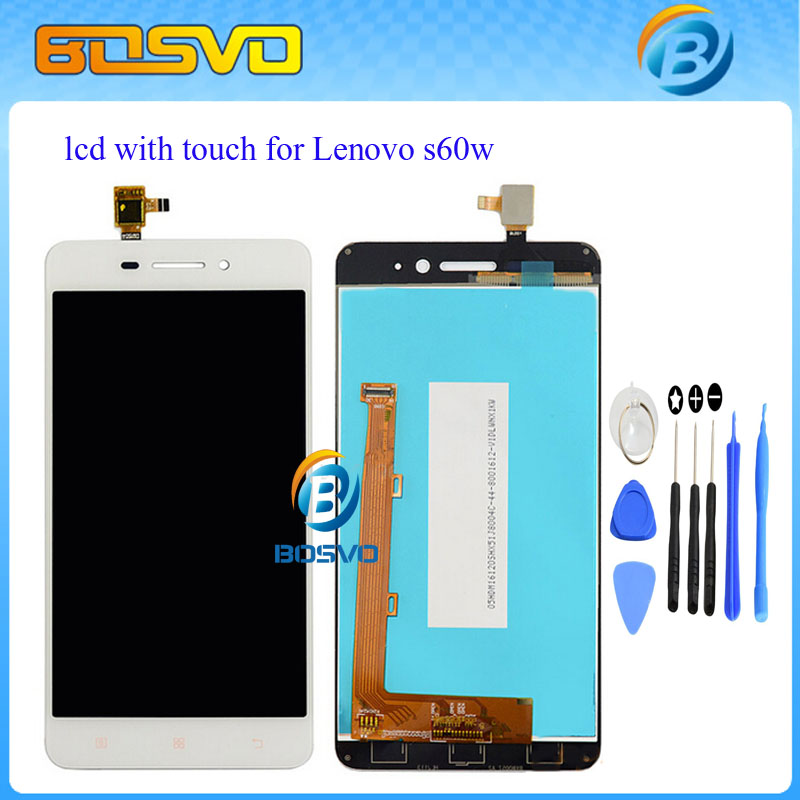 100% Guarantee Display With Touch Screen Digitizer Assembly For Lenovo S60w S60-T s60-a LCD 1pcs Free Shipping + tool new winter jacket men cotton parkas padded long black thick warm casual hooded fur collar jacket coat outwear zipper jackets