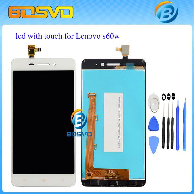 Garantía 100% de pantalla con pantalla táctil digitalizador asamblea para lenovo s60w s60-t s60-un lcd 1 unids free shipping + herramienta