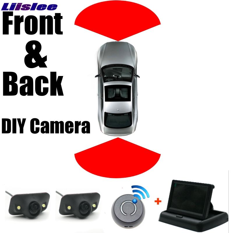 Combination Set All Car Front + Rear Camera Cigarette Power Variable Channel Blind Spots Flexible Copilot Monitor Camera View SY car camera front car camera set rear view camera set - title=