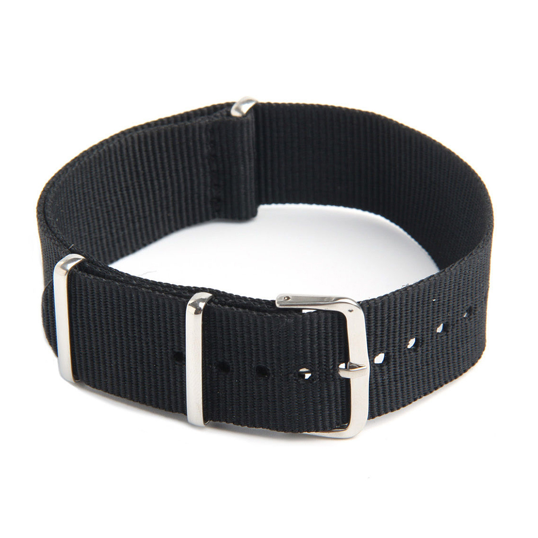 <font><b>Watch</b></font> Strap Band Military Army Nylon Canvas Divers <font><b>G10</b></font> Mens Colour:Black Width:22mm image