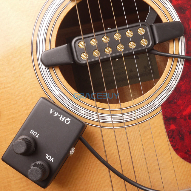Brand New Acoustic Guitar Pickup Pick Up For Sound Hole Magnetic Preamp EQ Equalizer Tuner QH-6A captador