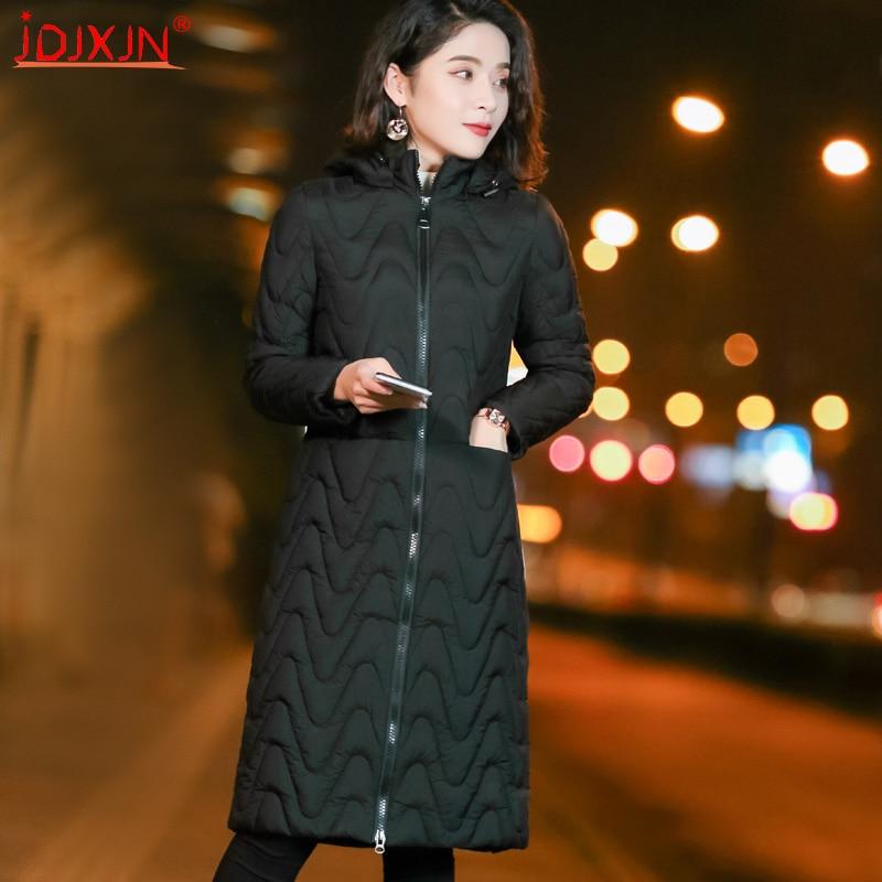 Woman Spring Padded Warm Coat Ultra Light Duck Down Jacket Long Female Overcoat Slim Solid Jackets Winter Coat Portable   Parkas