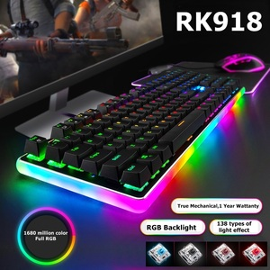 ROYAL KLUDGE RK918 USB Wired RGB Backlight Mechanical Gaming Keyboard Macro Programming With Variety of Backlight Effect(China)
