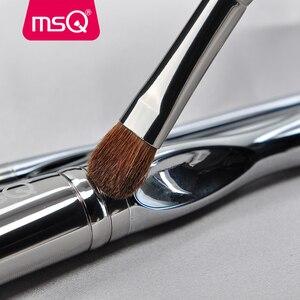 Image 5 - Msq プロフェッショナル 11 個パウダー化粧ブラシセット古典的なリップスティックファンデーションメイクアップブラシヤギ/馬の毛 pvc ハンドル