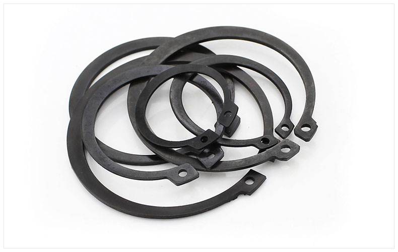 Washers Elastic Retaining Ring 65mn Gb894 Shaft Card Circlip M4 M5 M6 M8 M10 M12 M14-m65 Black Shaft Type C Card Spring Card Ring Relieving Heat And Sunstroke