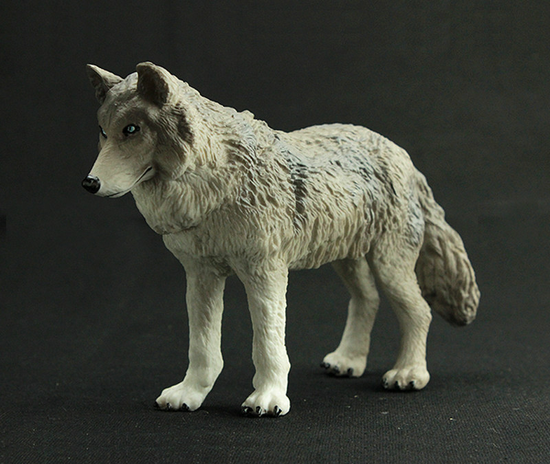 Simulation Animal Model Toys Wildlife World Wolf Children Early Education Toys Action Figures Display Accessories
