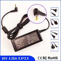 20 V 3.25A Laptop Ac Adapter Ladegerät Power für Lenovo K22 K23 K24 K26 K27 K29 K33 K41 K46A K47G E46L E47L E47A Z360 Z460 Z370