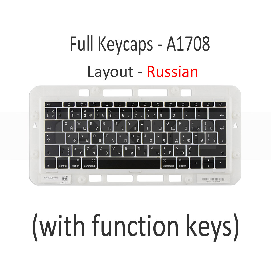 """Image 3 - Genuine for Macbook Pro Retina 13"""" 15"""" A1706 A1707 A1708 Russian Russia RU Keyboard Keys Key Cap Keycaps Late 2016 Mid 2017-in Replacement Keyboards from Computer & Office on"""