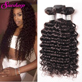 Malaysian Deep Wave Virgin Hair 4 Bundles Malaysian Deep Curly Weave Human Hair Bundles Deep Wave Malaysian Hair Weave Bundles