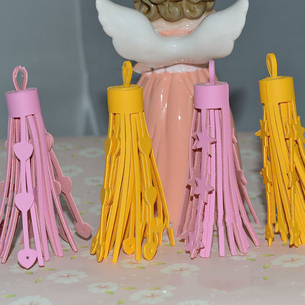 5PCS lot 75mm Tassel Leather suede tassels trim Phone tassels for DIY Craft pendant jewelry Sewing Garment Bags accessories in Tassel Fringe from Home Garden