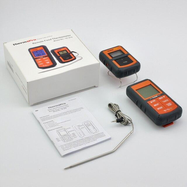 ثيرموبرو TP-07S للشواء عن بعد ، المدخن ، شواء ، فرن ، اللحوم 300 قدم المدى اللاسلكية الغذاء ميزان الحرارة مع الموقت