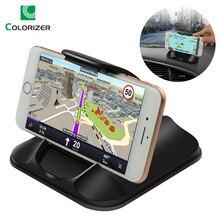 電話カーホルダーダッシュボード強い粘着 3 メートルの車のための 3 7 インチ Iphone サムスンの Gps 非スリップ再利用可能なゲルパッドマット
