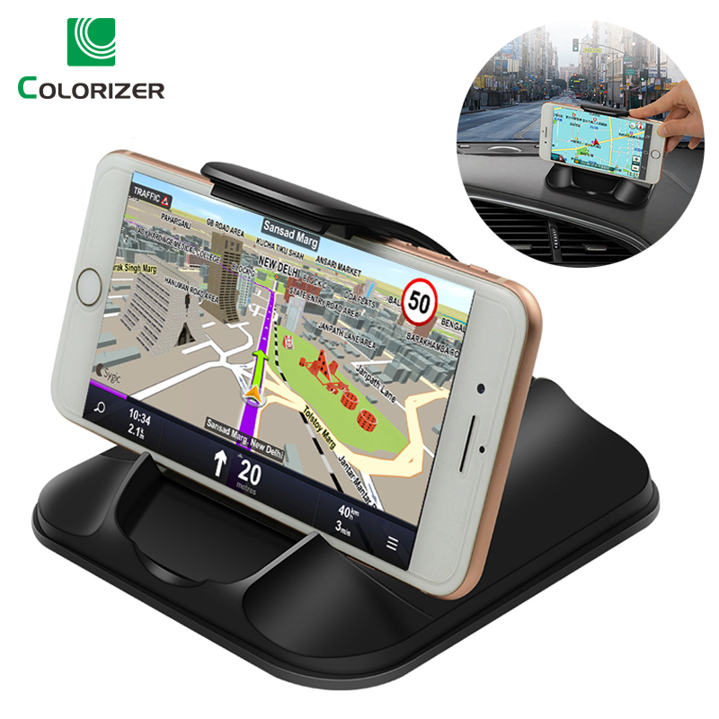 Phone Car Holder For Dashboard Strong Sticky 3M Car Mount Bracket For 3-7 Inch IPhone Samsung GPS Non-Slip Reusable Gel Pads Mat