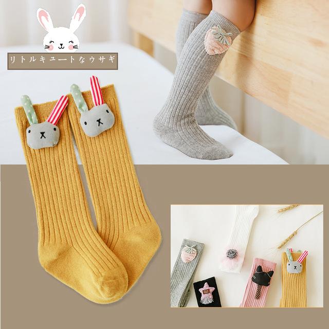 Baby Girl Socks Lovely Cartoon Animal Autumn Winter Thigh High Over Knee Socks Long Stockings Cotton Leg Warmers Socks 0-3 Years