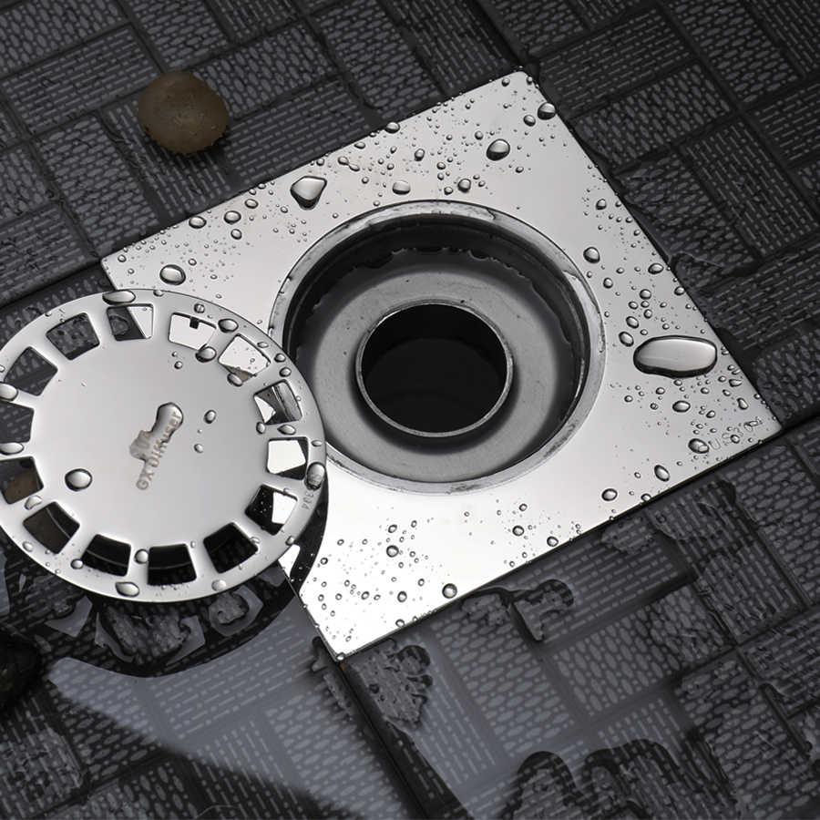 床排水シャワーステンレス鋼 SUS 304 ポリッシュ浴室床トラップ近代化正方形フィルターハードウェアの付属品
