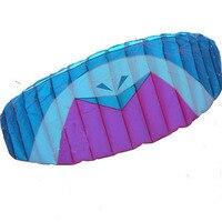 New High Quality 330cm Quad Lines Parafoil Kite With Flying Tools Power Braid Sailing Kitesurf Purple Sports Beach
