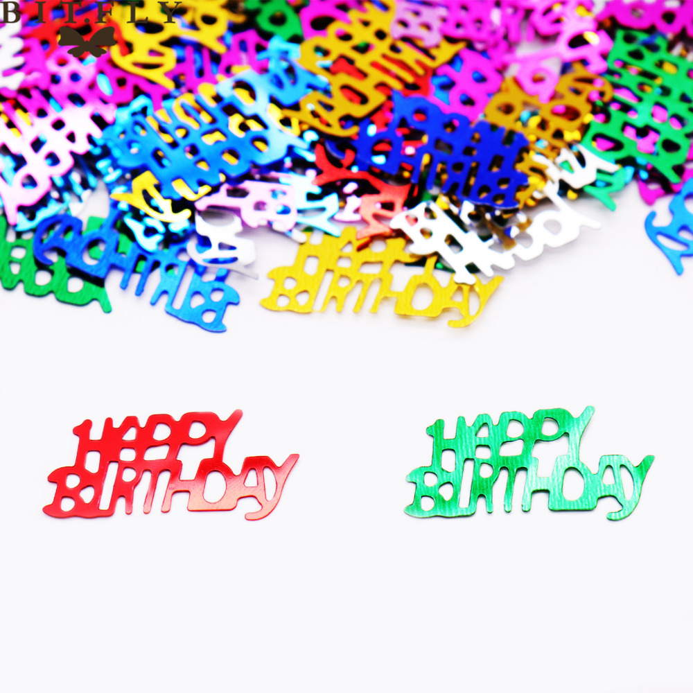 15g Birthday Numbers 13 16 18 <font><b>30</b></font> 40 50 60 80 Happy Birthday <font><b>Confetti</b></font> Party Wedding Decoration Sparkle Sequin Brithday Party Deco image