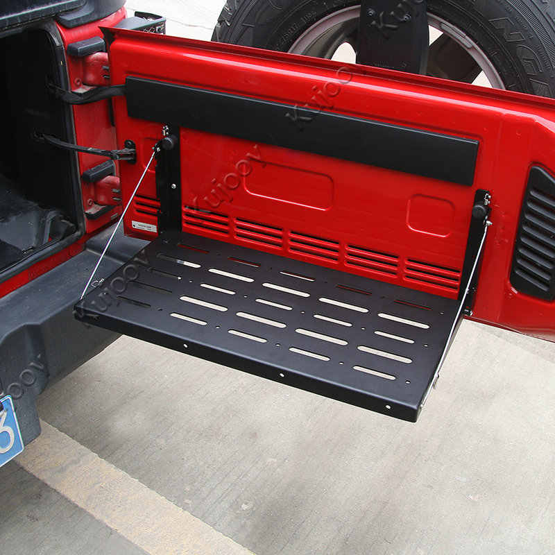 Металлическая задняя дверь интерьер стойки грузов несущей полки стойки для хранения 2007-2016 Jeep Wrangler JK автомобиля Средства для укладки волос