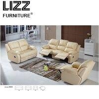 Новые роскошные дома мебель кресло Off white Modern кожа кресло Электрический Диван
