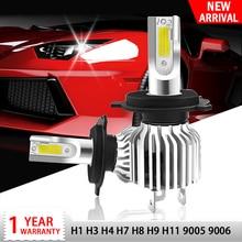 цена на 2X H7 Led Car Headlight 72W H11 Lamp H1 H3 H8 H4 9005 9006 Hb4 Hb3 Bulb 3000K 6000K 10000K Mini Auto Turbo 12V led automotivo