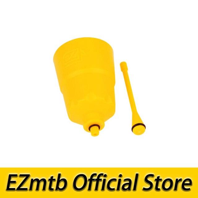 Livraison gratuite! kit de purge d'entonnoir d'huile de vélo ezvtt pour freins à disque shimano
