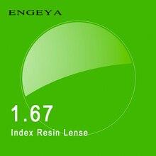 1.67 Индекс Рецепту Линзы Смолы Асферические Очки Линзы для Близорукости Дальнозоркость Пресбиопии Очки Линзы с Зеленым Покрытием