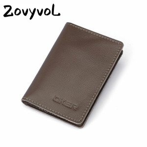 ZOVYVOL 2019 NEW Mini Hombre RFID Coin purses Genuine Leather Card Holder for Men Women Slim ID Credit Card Wallet Card Holders