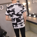 Japanese Style Tshirt Mens Camouflage 2016 Summer Vintage Print Camo T-shirt Men Bottoming Shirt Tide White Camouflage T Shirt