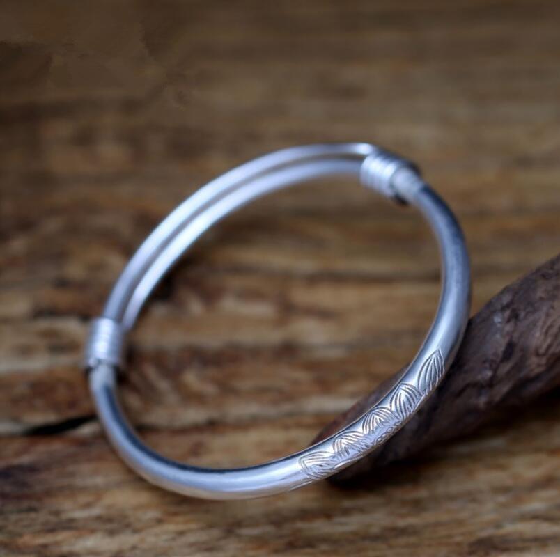 990 argent sterling sculpture lotus hommes et femmes ethnique simple bracelet (SYF)990 argent sterling sculpture lotus hommes et femmes ethnique simple bracelet (SYF)