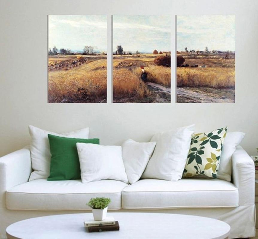 Nº3 unids/set cosecha Quadro pintura cuadros pinturas modernas para ...