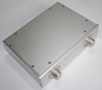 NEW silver full Aluminum preamp Enclosure AMP case power amplifier box chassis Y