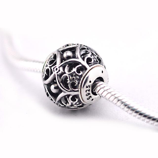 Encaixa Pandora Essência Bracelet & Necklace Afeto Grânulos de Prata Originais 925 Prata Esterlina Encantos DIY Jóias 10F009
