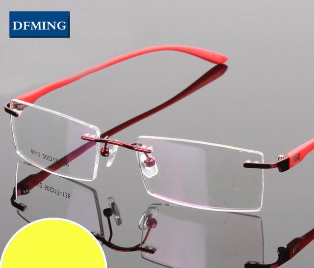 DFMING Hommes femmes Lunettes sans monture Cadre sans monture optique Cadre  Nouvelle Prescription lunettes cadres myopie 72884c48bcbc
