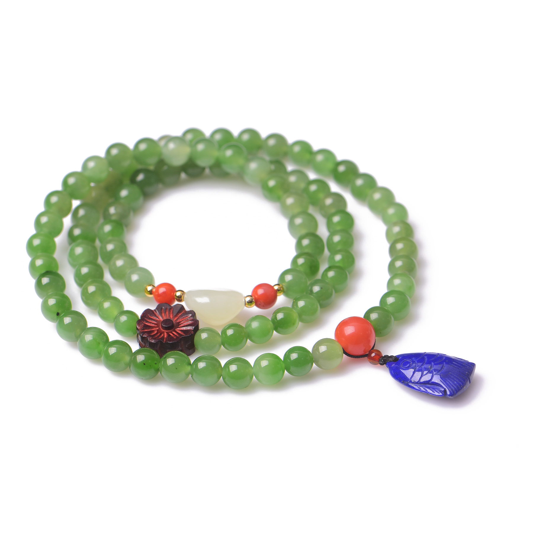 Handmade Authentic Hetian Crystal Beads Bracelets 6mm handmade authentic hetian crystal budda bracelets