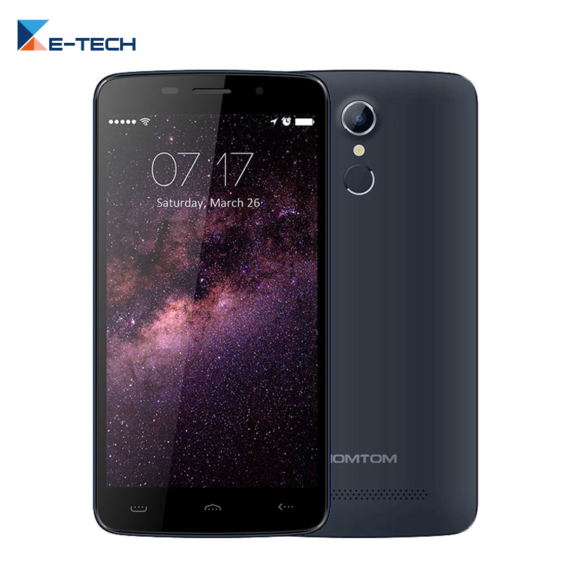 Цена за Оригинал HOMTOM HT17 MTK6737 Смартфон Quad Core Сотовый Телефон 5.5 7 дюймовый Экран HD 1 ГБ RAM 8 ГБ ROM Отпечатков Пальцев 3000 мАч Мобильный телефон